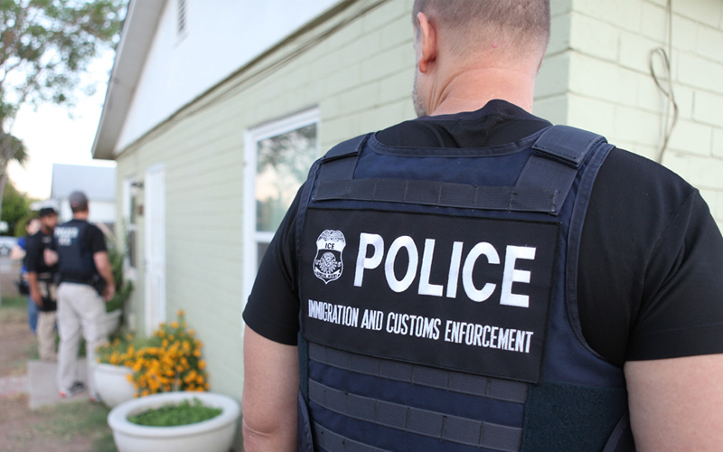 ICE agents at house