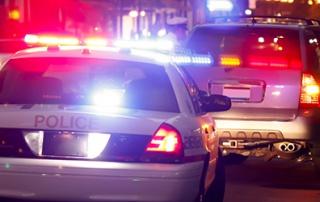cop car stop city
