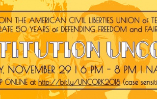 Please join ACLU-TN for The Constitution Uncorked on November 29