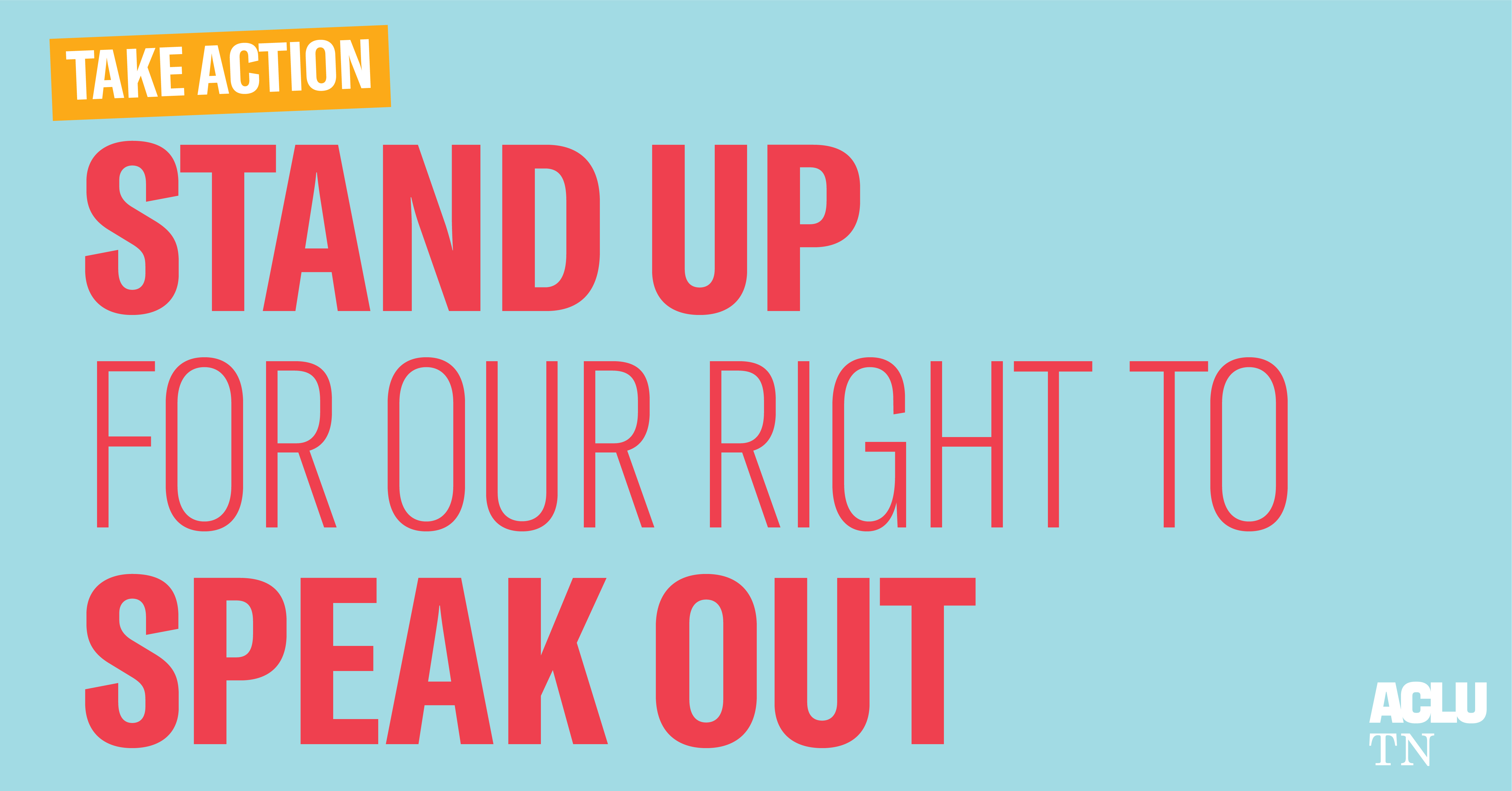 Stand up for the right to speak out